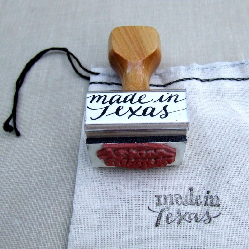 'Made In Texas' Rubber Stamp