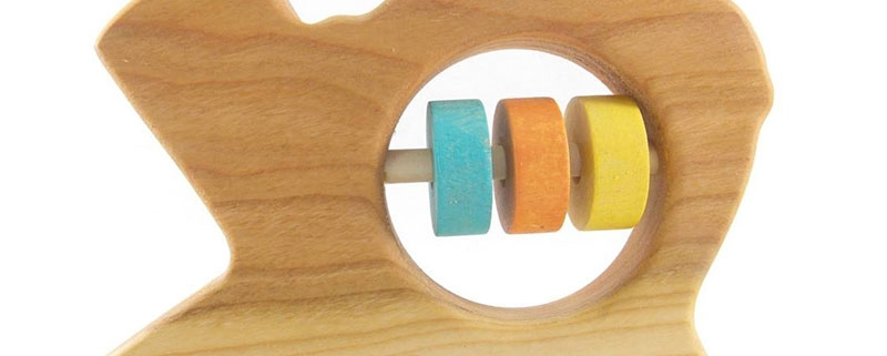 Wooden Texas Baby Rattle