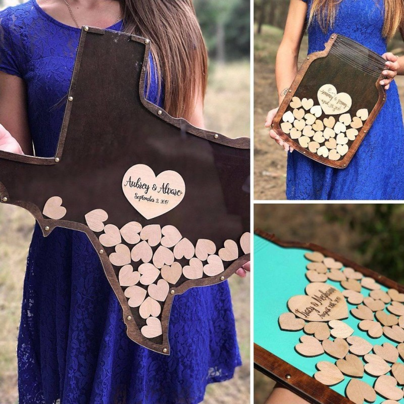 Texas Wedding Guest Book Alternative For Those S Looking Modern Touches To Old Traditions
