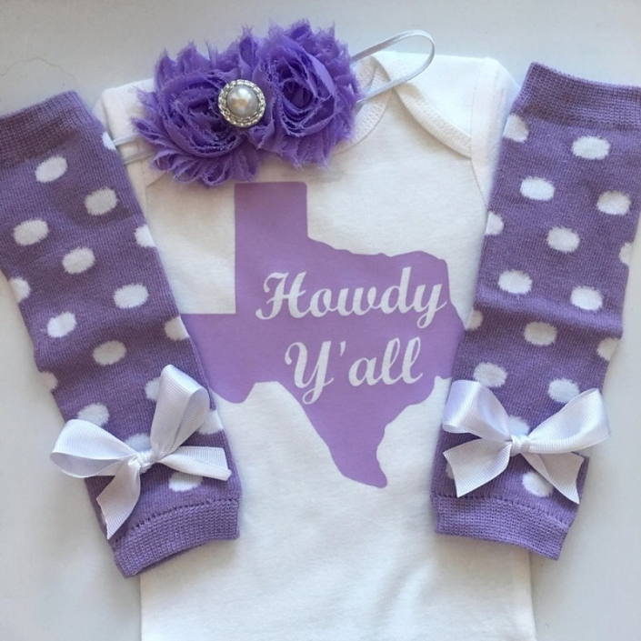 Baby Girl Texas Outfit