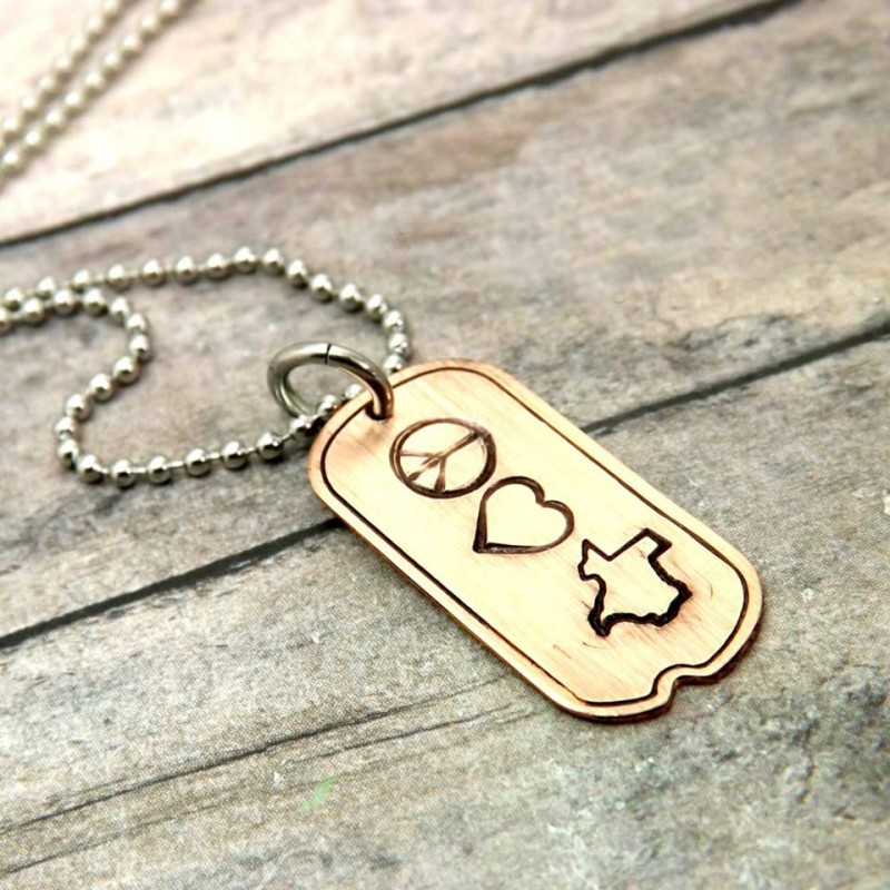 Peace, Love, and Texas Necklace