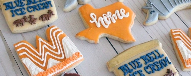 Texas Themed Cookies