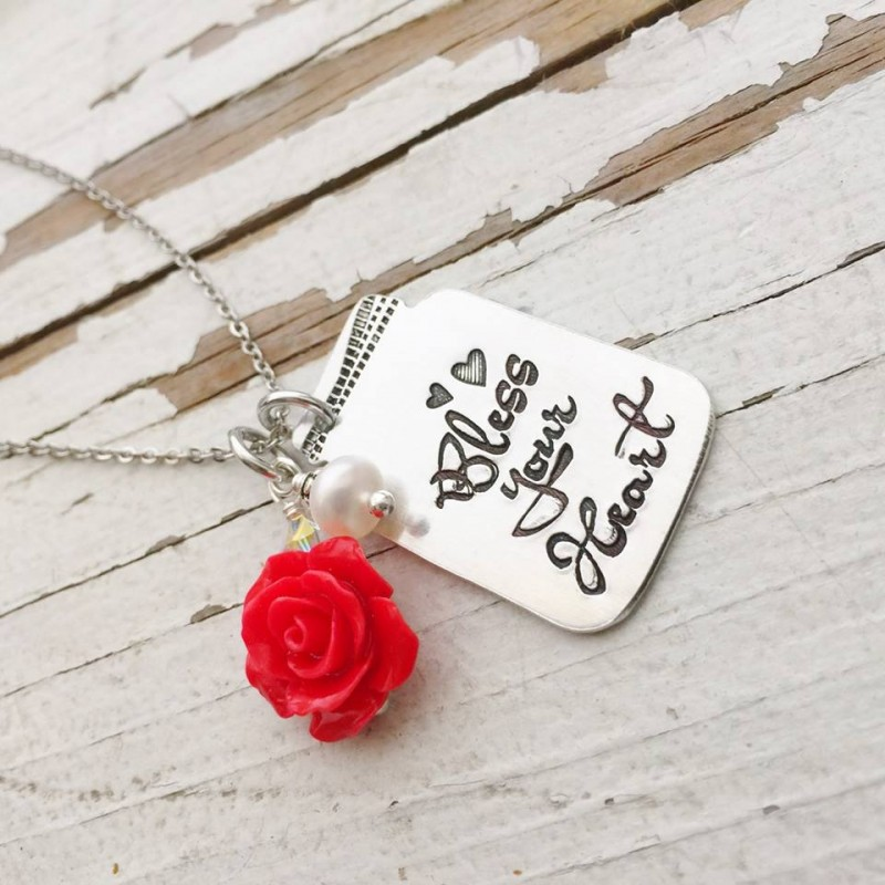 Hand Stamped Texan Necklace